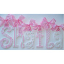 Shaila's Glitter and Sparkle Wall Letters, Ribbon Letter | Hanging Wall Letters With Ribbon | ABaby.com