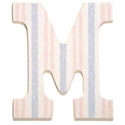 Striped Glitter Wall Letter, Girls Wall Letters | Kids Wall Letters For Nursery | ABaby.com