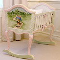 Enchanted Forest Cradle, Wooden Bassinet | Antique Cradles | ABaby.com