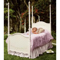 Floral Fantasy Poster Bed, Childrens Beds | Girls Twin Bed | ABaby.com