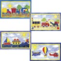 Transportation Series Artwork, Train And Cars Themed Nursery | Train Bedding | ABaby.com