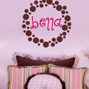 Bella's Dots Wall Decal, Personalized Kids Wall Art | Personalized Wall Decor | ABaby.com