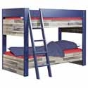 Capt'n Sharky Bunk Bed, Toddler Iron Bunk Beds | Kids Bunk Beds | ABaby.com