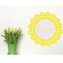 Dainty Wall Decal, Nursery Wall Art | Flower Wall Art | ABaby.com