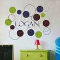 Dots and Circles Wall Decal, Personalized Kids Wall Art | Personalized Wall Decor | ABaby.com