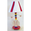 Baseball Ceramic Lamp,