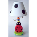 Ladybug Ceramic Lamp, Frogs And Bugs Nursery Decor | Frogs And Bugs Wall Decals | ABaby.com