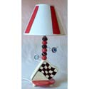 Racing Flag Lamp, Baby Nursery Lamps | Childrens Floor Lamps | ABaby.com