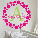 Amanda's Dots Wall Decal, Personalized Nursery Decor | Baby Room Decor | ABaby.com