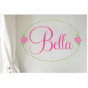 Bella Rose Personalized Wall Decal, Personalized Nursery Decor | Baby Room Decor | ABaby.com