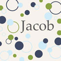 Personalized Dots and Cirlces Canvas Art, Personalized Kids Wall Art | Personalized Wall Decor | ABaby.com