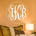 Fancy Dot Interlock Monogram Wall Decal, Personalized Nursery Decor | Baby Room Decor | ABaby.com