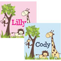 It�s a Jungle Out There Canvas Art, Personalized Nursery Decor | Baby Room Decor | ABaby.com