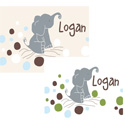 Logan's Dots Canvas Art , Personalized Kids Wall Art | Personalized Wall Decor | ABaby.com