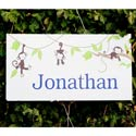 Personalized Monkeying Around Canvas Art, Girls Wall Art | Artwork For Girls Room | ABaby.com