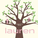 Owl Tree Canvas Wall Art, Personalized Nursery Decor | Baby Room Decor | ABaby.com