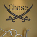 Personalized Pirate Sword Wall Decal