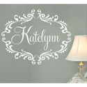 Princess Personalized Frame Wall Decal, Princess Nursery Decor | Princess Wall Decals | ABaby.com