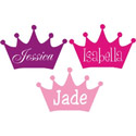 Princess Crown Wall Decal, Personalized Kids Wall Art | Personalized Wall Decor | ABaby.com