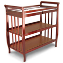 Flat Slat Sleigh Changer, Wicker Changing Tables | Wood Changing Tables | ABaby.com