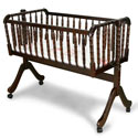 Jenny Lind Baby Cradle, Wooden Bassinet | Antique Cradles | ABaby.com