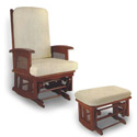 Classic Glider and Ottoman, Wood Glider | Sliech Gliders | ABaby.com