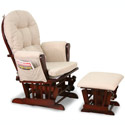 Luscious Glider and Ottoman, Wood Glider | Sliech Gliders | ABaby.com