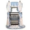 Baby Ruffle Round Crib Bedding, Bedding For Round Cribs | ABaby.com