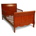 Solid Panel Sleigh Toddler Bed, Toddler Beds | Portable Toddler Bed | ABaby.com