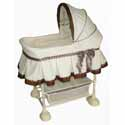 Cocoa Dots Harmony CO-SLEEPER ® , Baby Bassinets, Moses Baskets, Co-Sleeper, Baby Cradles, Baby Bassinet Bedding.