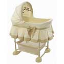 Gold Jacquard Harmony CO-SLEEPER ®, Baby Bassinets, Moses Baskets, Co-Sleeper, Baby Cradles, Baby Bassinet Bedding.