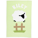 Personalized Sheep Baby Blanket, Monogrammed Baby Blankets | Custom Baby Blankets