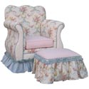 Blossoms and Bows Kids Empire Chair, Kids Upholstered Chairs | Personalized | Couch | Armchair