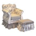 Black Toile Child Empire Chair, Kids Upholstered Chairs | Personalized Upholstered Chairs | ABaby.com