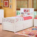 Captain's Bookcase Bed, Childrens Twin Beds | Full Beds | ABaby.com