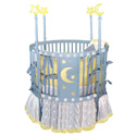 Blue Star Round Crib, Round Cribs for Babies | Circular Crib | Unique | Nursery