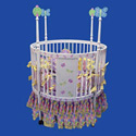Butterfly Round Baby Crib, Fairy Themed Cribs | Fairy Beds | ABaby.com