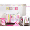 Plaids and Stripes Girls Crib Bedding Set, Crib Comforters |  Ballerina Crib Bedding | ABaby.com