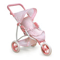 Three Wheel Doll Jogging Stroller, Baby Doll House | Accessories | Doll Furnitutre Sets