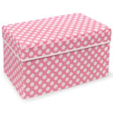 Polka Dot Double Folding Storage Seat, Kids Storage Bins | Personalized Kids Toy Boxes | ABaby.com