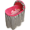 Black and Pink Embrace Bassinet, Baby Girl Bassinet Bedding | Baby Girl Bedding Sets | ABaby.com