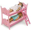 Blossoms & Butterflies Doll Bunk Bed, Baby Doll House | Accessories | Doll Furnitutre Sets