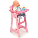 Blossoms & Butterflies Doll High Chair, Baby Doll House | Accessories | Doll Furnitutre Sets