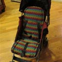 Rainbow Chevron Stroller Liner, Stroller Accessories | Baby Carriage Liners | ABaby.com