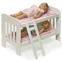 Doll Bunk Bed with Ladder, Baby Doll House | Accessories | Doll Furnitutre Sets