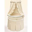 Elite Oval bassinet, Baby Bassinet Bedding sets, Bassinet Skirts, Bassinet Liners, and Hoods