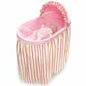 Pink 'n Stripe Embrace Bassinet, Baby Girl Bassinet Bedding | Baby Girl Bedding Sets | ABaby.com