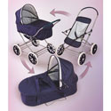 English Style 3 in 1 Pram, Baby Doll House | Accessories | Doll Furnitutre Sets