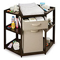 Espresso Corner Changing Table, Baby Changing Table | Changing Tables With Drawers | ABaby.com