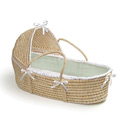 Hooded Moses Basket, Baby Baskets For Boys | Boys Moses Baskets | ABaby.com